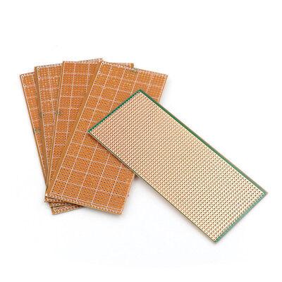 5pcs 6.5x14.5cm Stripboard Veroboard Uncut Pcb Platine Single Side Circuit Yh