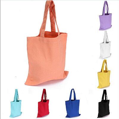 Women Girl Canvas Shopping Handbag Shoulder Tote Shopper Beach Bag fE