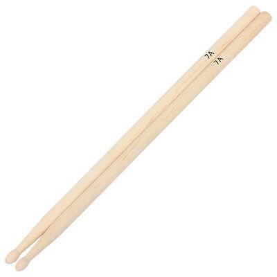 1 Pair 7A Practical Maple Wood Drum Sticks Drumsticks Music Band Accessoriess CH