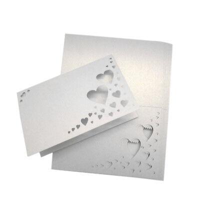 Platzkarten super niedlich Herzen Tisch-Deko Tischkarte Hochzeit Dekoration