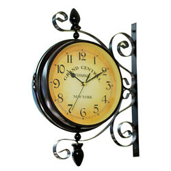 1pc Double Sided Wall Clock Central Station Round Grand Wall Clock