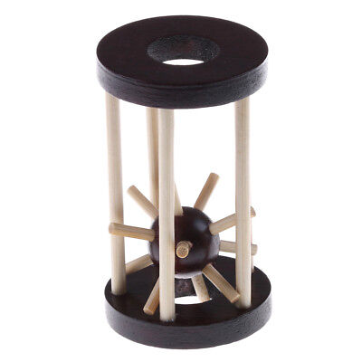 Wooden Intelligence Toy Ming Lock Take out Spiked Ball Brain Teaser Toy Gift new - Brain Balls