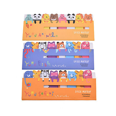 Cute Animals Sticker Bookmark Marker Memo Flags Index Tab Sticky Notes Gx