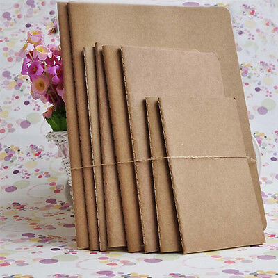 Kraft paper notebook blank notepad book vintage journal notebooks D+qYHB