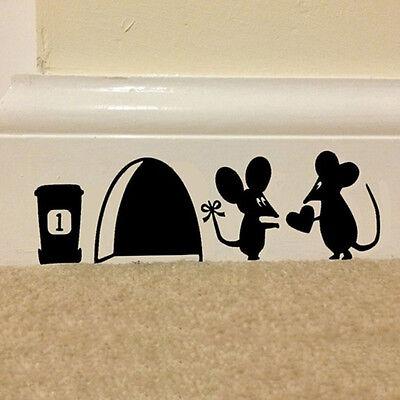 Mouse Hole Vinyl Mural Wall Art Sticker Decal Kids Nursery Room Home Decor