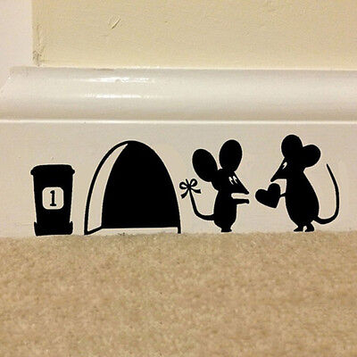 Home Decoration - Mouse Hole Vinyl Mural Wall Art Sticker Decal Kids Nursery Room House Home^Decor