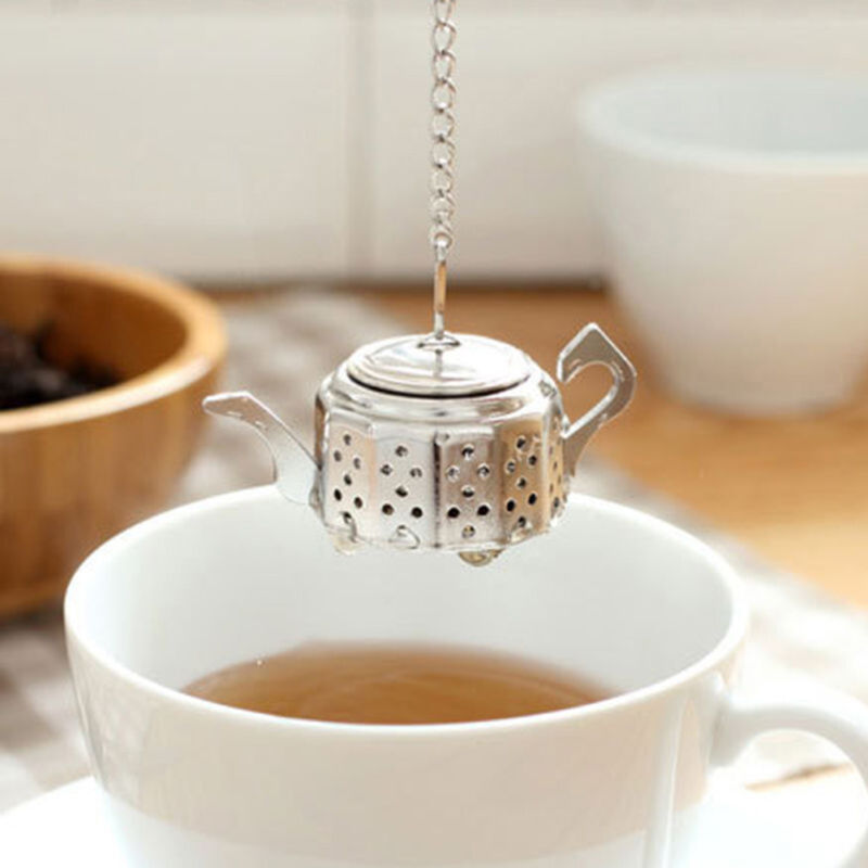 Cute Stainless Steel Teapot Tea Infuser Spice Drink Strainer