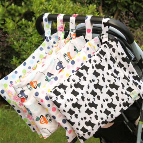 Baby Nappy Washable Nappy Wet Dry Cloth Zipper Waterproof Di