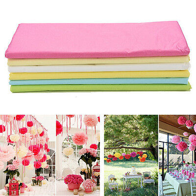 10Sheets Tissue Paper Flower Wrapping Kid DIY Craft Material 10 Colors 50*98cm ,