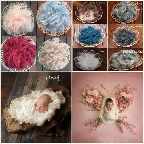 Deluxe Wool Fluff Basket Stuffer Filler, Newborn Photo Prop, Merino Baby Prop