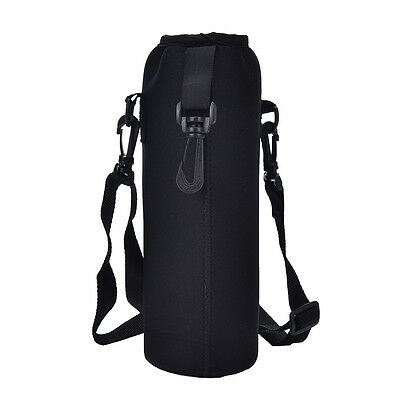 - 1000ML Water Bottle Carrier Insulated Cover Bag Holder Strap Pouch Outdoor KRFS