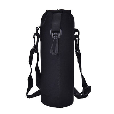 - 1000ML Water Bottle Carrier Insulated Cover Bag Holder Strap Pouch Outdoor ~!