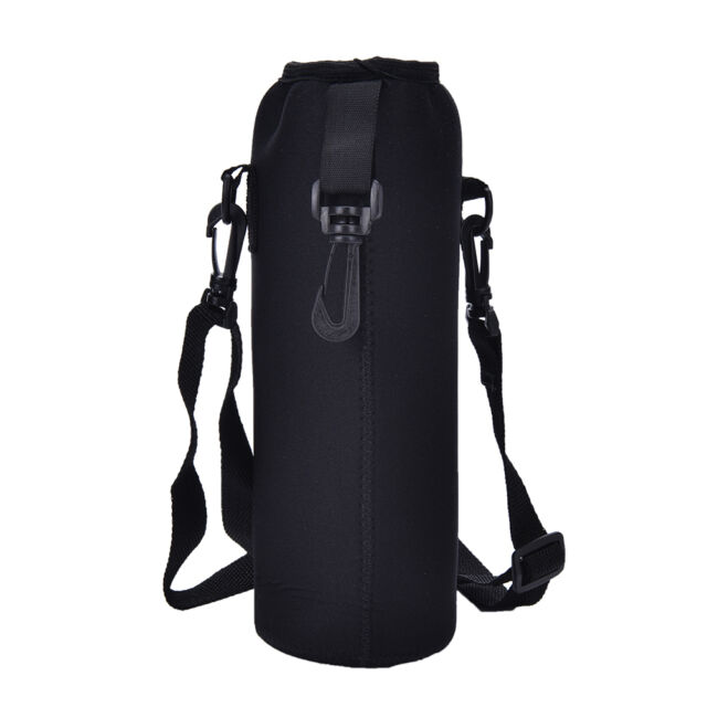 1000ML Water Bottle Carrier Insulated Cover Bag Holder Strap Pouch Outdoor FOUK