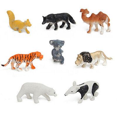 8x/Set Wild Animals Figures Toys Set Children Kids Model Toy Kit Hard PlasticCHW