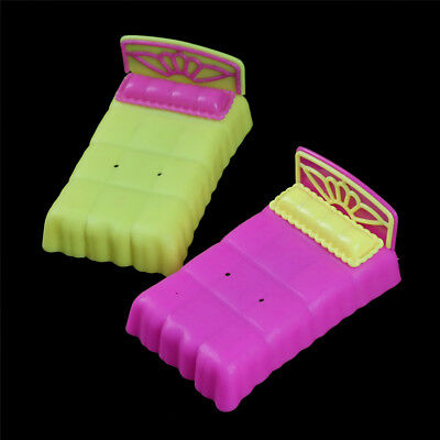 1pc Bedroom Furniture Mini Plastic Bed for Barbie Little Sister Krissy Doll BLUS