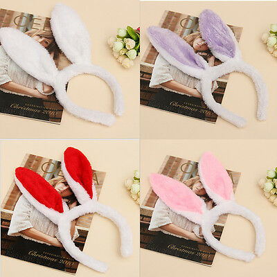 New Plush Fluffy Bunny Rabbit Ears Headband Costume Accessory Dress Up Fad RFEC - Costume Rabbit Ears