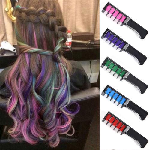 1x temporäre Dye Farbe Haarkreide Weiche Pastell Creme Kamm Salon Haarbürste UE