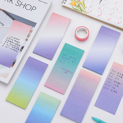 1pc Rainbow Memo Pads Decoration Stickers Self-adhesive Stationery Sticky Notes