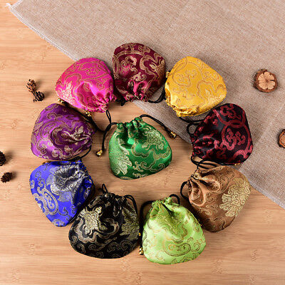 10PCS Chinese Handmade Mix Colors Silk Bag Coin Purse Gift Jewelry Bags Pouch WU](Colored Gift Bags)
