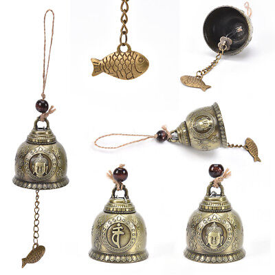 buddha statue pattern bell blessing feng shui winds chime for good fortunes PX