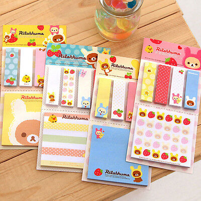 Bookmark Point It Marker Memo Flags Sticky Notes Strawberry Bear Sticker Randomt