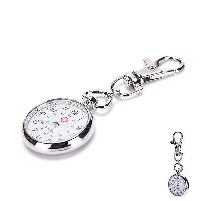 - stainless steel Quartz Pocket Watch Cute Key Ring Chain Gift bien BLBP