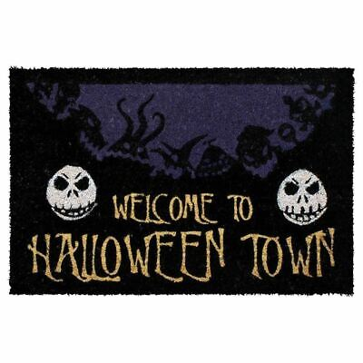 Nightmare Before Christmas Welcome To The Halloween Town Doormat Welcome Mat - Disney Halloween Doormat