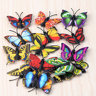 4X Butterfly Miniature Fairy Garden Ornament Plant Pot Craft Dollhouse Decor  Sc