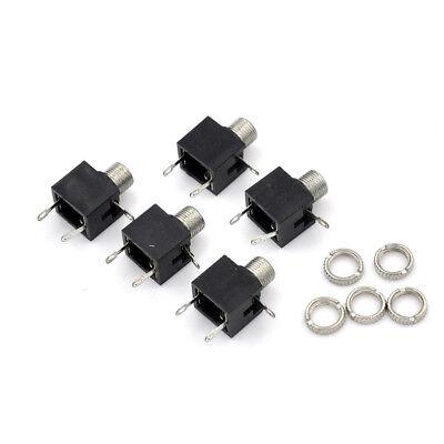 5Pcs 3.5mm PCB Panel Mount Stereo Jack Female Socket Connector Earphone*,ESCRKCA