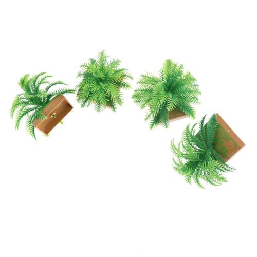2Pcs Miniature Plant Model 6CM Simulation Imitative Tree Shrub Building Mode SE