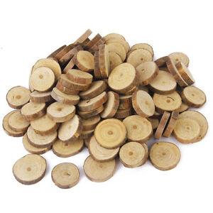 Tree slice crafts ebay 200pcs rustic natural round wood pine tree slice disc wedding centerpiece decor junglespirit Gallery
