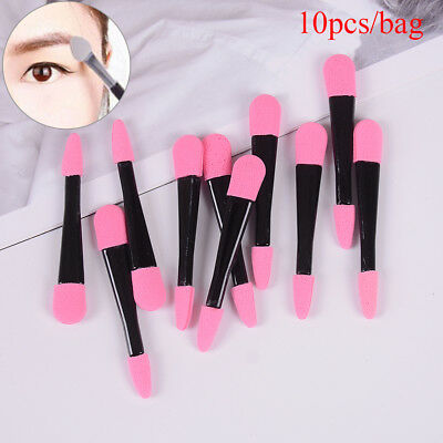 10Pc Disposable Double Ended Eye Shadow Applicators Sponge Makeup Brush Beaut FZ