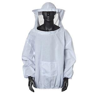 Protective Beekeeping Jacket Veil Smock Equipment Bee Keeping Hat Sleeve Suit EB
