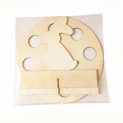 1pcs Wood Creative Colorful Egg Rack Easter Egg Rack Rabbit Rack for Party Store (I Party Store)