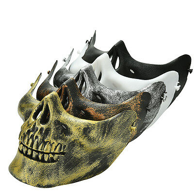 Skull Skeleton Airsoft Game Hunting Biker Half Face Protect Gear Mask GuardXlEV
