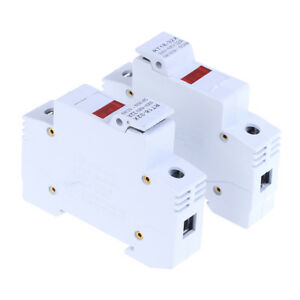 2Pcs rt18-32x ac 380v 32a 1 pole 10x38mm din rail mount fuse holder base CMUK