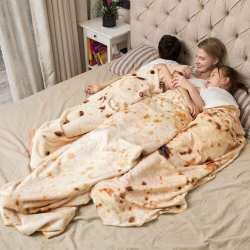 "Tortilla Blanket Burrito 60"" Blanket - Corn and Flour Tortil"