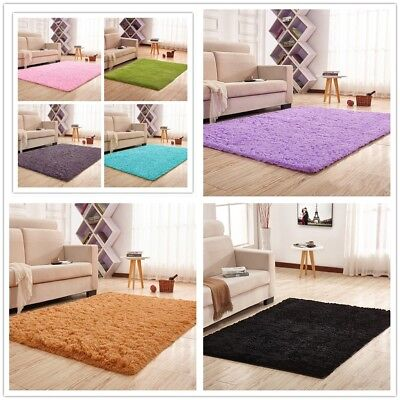 US Stock Ultra Soft Fluffy Area Rugs Round Mat Home Shag Carpet for Living Room ()