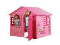 Brand New Girls Pink Cottage Indoor Garden Outdoor Playhouse Fun Toy