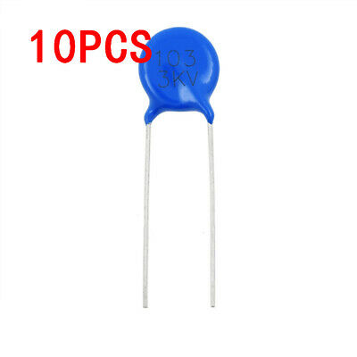 10pcs 3kv 103m High Voltage Ceramic Disc Capacitor 10nf 3000v 20