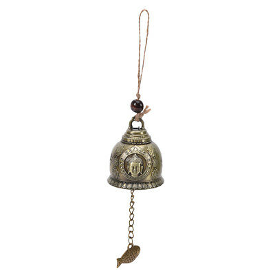 Buddha Statue Pattern Bell Blessing Feng Shui Wind Chime For Good Luck Fortun PX - $5.91