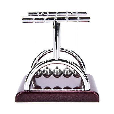 Newtons Cradle Steel Balance Ball Physics Science Pendulum Desk Fun Toy Gift Vu