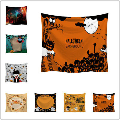 Horror Or Halloween (Halloween Trick Or Treat Horror Wall Hanging Home Decor Accessories Blanket)