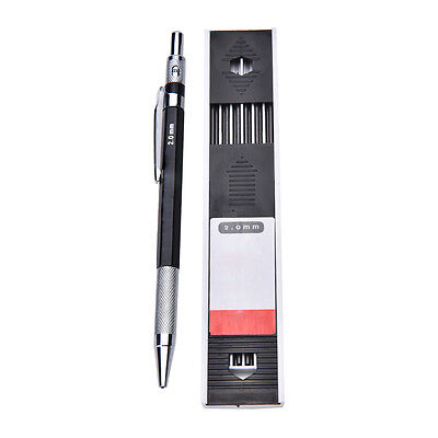 2mm 2B-Lead Holder Automatic Mechanical Drawing Drafting Pencil 12Leads RefillFJ