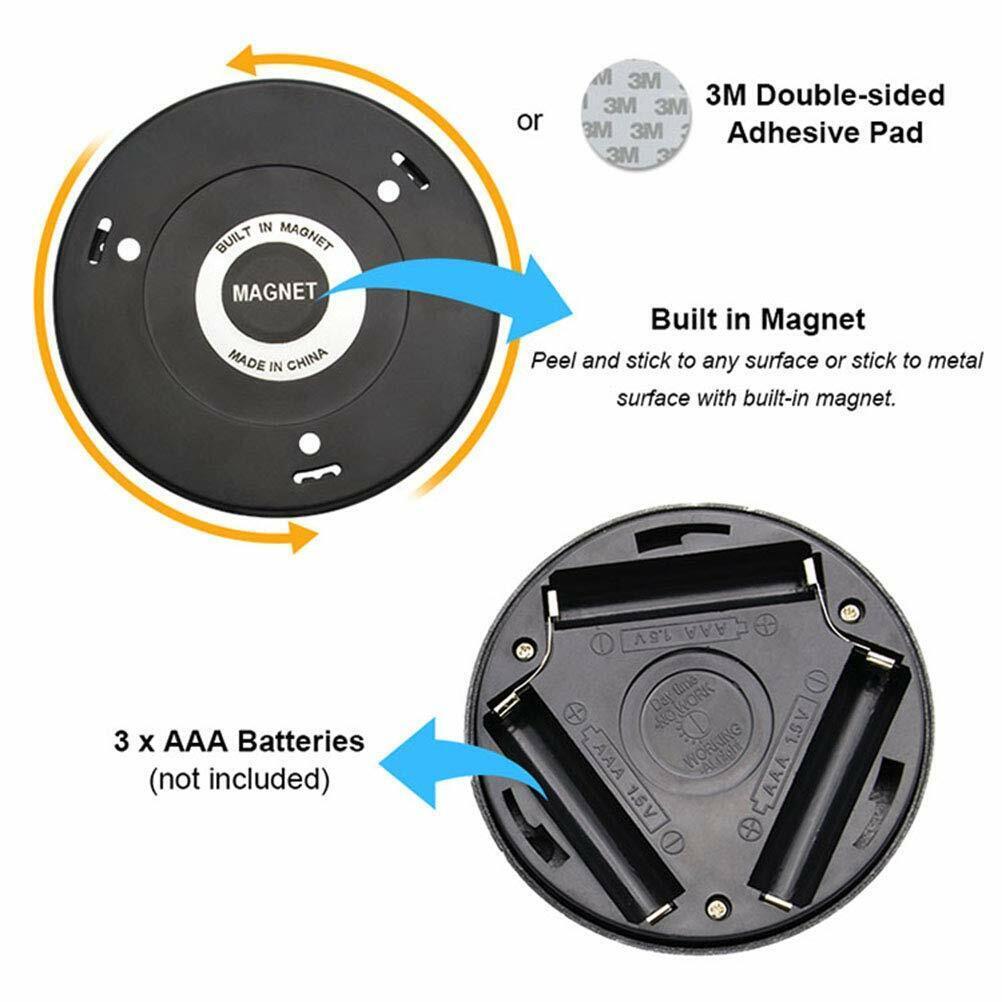 2x 6 Led Pir Auto Motion Sensor Infrared Night Light