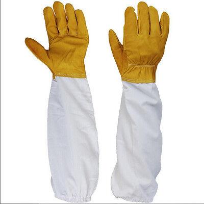50cm Protective Beekeeping Bee Keeping Vented Long Sleeves Gloves Goatskin Os