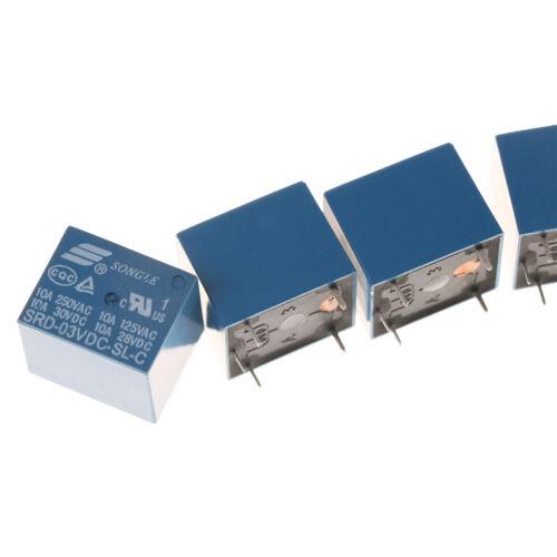 5Pcs 3V Mini SRD-3VDC-SL-C PCB Type DC Power Relay Ship Fast SL