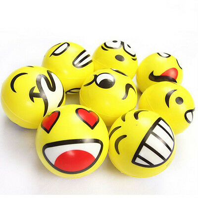 Smiley Face Anti Stress Reliever Ball ADHD Autism Mood Toy Squeeze Relief TB