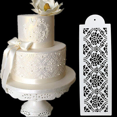 Plastic Cookie Cake Stencil Fondant Tool Decoration for Cake Wedding Flower@&