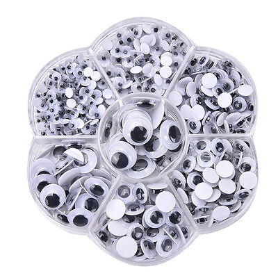 Googly Googly (700Pcs Round Self-adhesive Wiggly Googly Eyes 4-10mm 12mm for Toys)